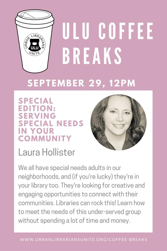ULU Coffee Breaks - Sept 29 Laura Hollister