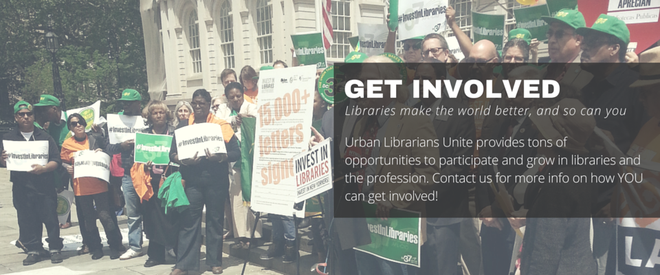 Urban Librarians Unite provides tons of opportunities to participate and grow in libraries and the profession. Contact us for more info on how YOU can get involved!