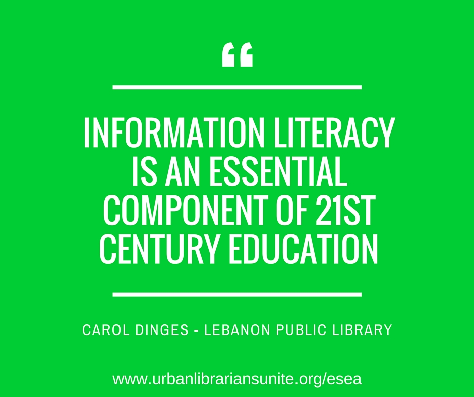 information literacy is an essential component of 21st century education