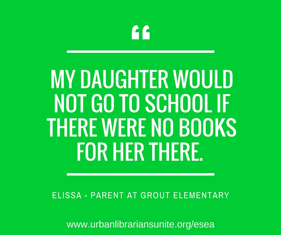 my daughter would not go to school if there were no books for her there