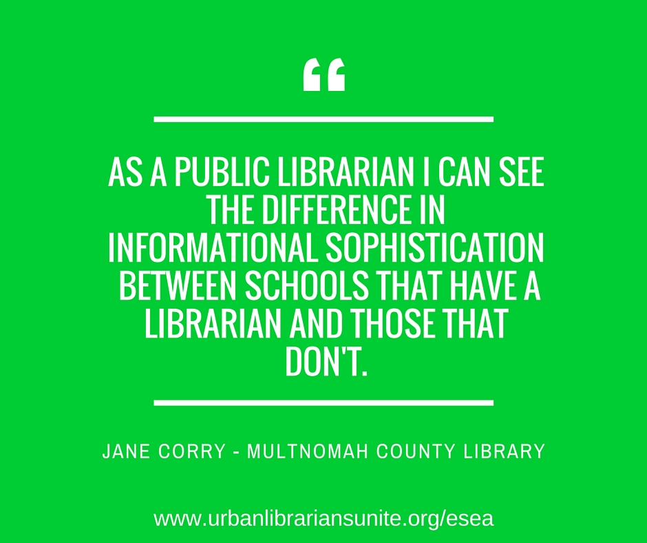 as a public librarian I can see the difference in informational sofistication between schools that have a librarian and those that don't