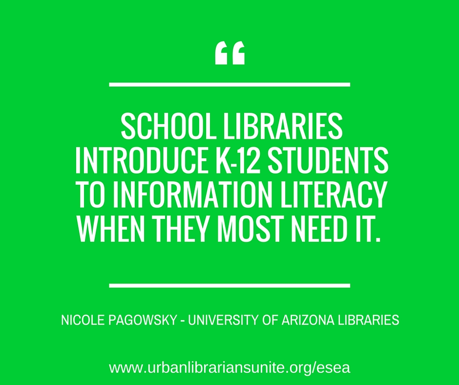 school libraries introduce k-12 students to information literacy when they most need it