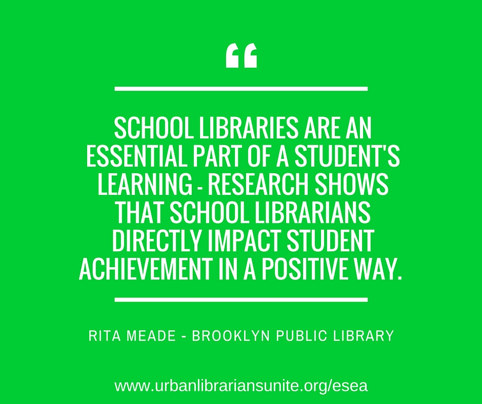 School libraries are an essential part of a student's learning - research shows that school librarians directly impact student achievement in a positive way