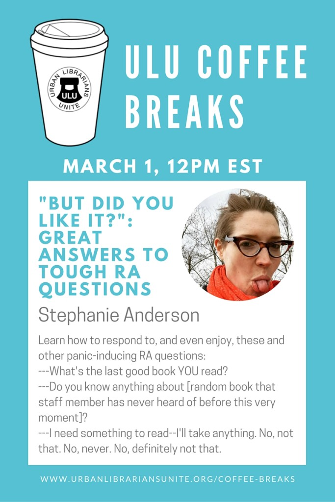 """""""But did YOU like it"""" Great Answers to tough RA quetsions - Stephanie Anderson"""