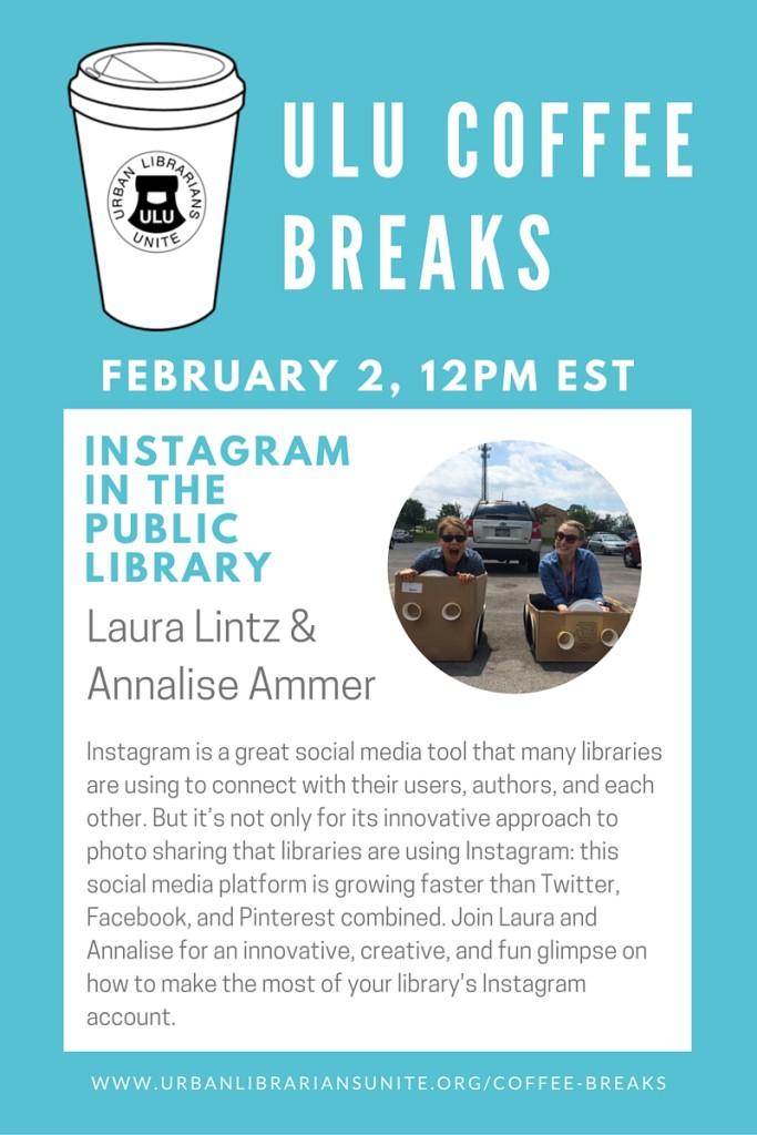 promo graphic for coffee break february 2, 2016