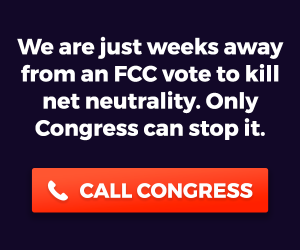 We are just weeks away from an FCC vote tokill net neutrality. Only Congress can stop it.